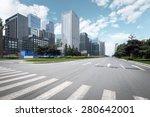 empty urban road and modern... | Shutterstock . vector #280642001