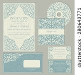 classic baroque business cards... | Shutterstock .eps vector #280643771