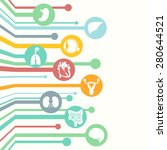concept of web banner. medical... | Shutterstock .eps vector #280644521