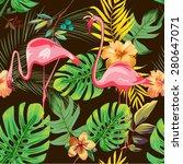 exotic flamingo patter  ... | Shutterstock .eps vector #280647071