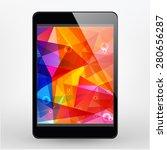black tablet pc   Shutterstock .eps vector #280656287