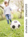 little cute boy playing with... | Shutterstock . vector #280669205