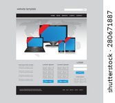 website design vector template | Shutterstock .eps vector #280671887