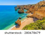 view of beautiful marinha beach ... | Shutterstock . vector #280678679