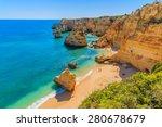 view of beautiful marinha beach ... | Shutterstock . vector #280678679