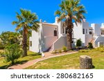 white holiday villa houses near ...   Shutterstock . vector #280682165