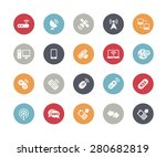 wireless communications icons   ... | Shutterstock .eps vector #280682819