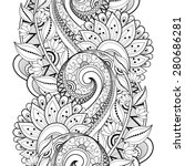 Seamless Contour Floral Pattern ...