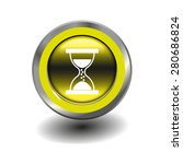 yellow glossy button with... | Shutterstock .eps vector #280686824