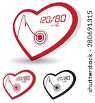 blood pressure monitoring icon  ... | Shutterstock .eps vector #280691315