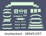 set of retro vintage banner... | Shutterstock .eps vector #280691357