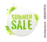 summer sale circle tags with... | Shutterstock .eps vector #280693931