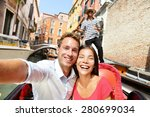 Selfie Couple Taking Picture I...