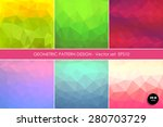 abstract triangle background... | Shutterstock .eps vector #280703729