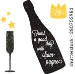 Vector Vintage Champagne Bottl...