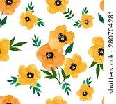vector illustration of floral... | Shutterstock .eps vector #280704281