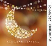 ornamental arabic moon. bokeh... | Shutterstock .eps vector #280704404