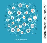 social networks and... | Shutterstock .eps vector #280706897