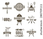 barbecue and grill premium... | Shutterstock .eps vector #280709111