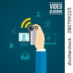 video blogging concept with... | Shutterstock .eps vector #280709225