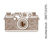old camera. vintage camera in... | Shutterstock .eps vector #280713191