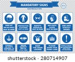 electrically mandatory sign ... | Shutterstock .eps vector #280714907