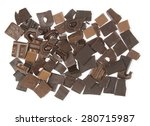 background pieces of chocolate...   Shutterstock . vector #280715987