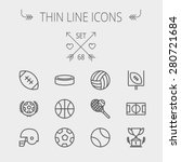 sports thin line icon set for... | Shutterstock .eps vector #280721684