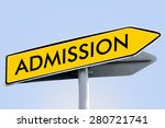 admission word on yellow... | Shutterstock . vector #280721741