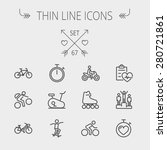 sports thin line icon set for... | Shutterstock .eps vector #280721861