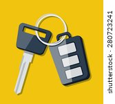 vector car key and charm of the ...