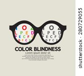color blindness concept vector... | Shutterstock .eps vector #280729055