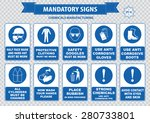 chemical or medical mandatory... | Shutterstock .eps vector #280733801