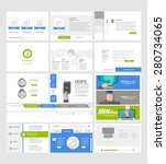 set of flat website template... | Shutterstock .eps vector #280734065