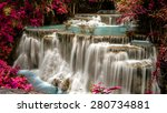 huay mae khamin waterfall in... | Shutterstock . vector #280734881