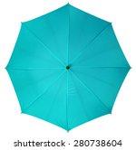 Blue Umbrella Isolated On White ...