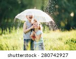 Happy kids playing outdoor in...