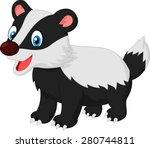 cartoon animal badger   Shutterstock .eps vector #280744811