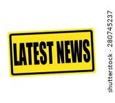 Latest News Black Stamp Text On ...
