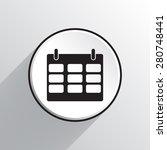 calendar vector icon | Shutterstock .eps vector #280748441