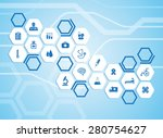 medical background and icons to ... | Shutterstock .eps vector #280754627