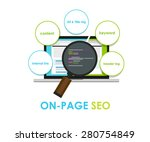 on page seo search engine... | Shutterstock .eps vector #280754849