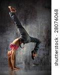 modern style dancer posing... | Shutterstock . vector #28076068