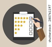 rating   customer service  ... | Shutterstock .eps vector #280761197