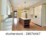 kitchen in new construction home | Shutterstock . vector #28076467