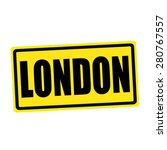 London Black Stamp Text On...