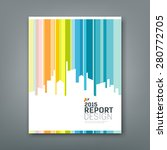 cover annual report silhouette... | Shutterstock .eps vector #280772705