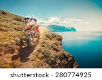 downhill bike. down from the... | Shutterstock . vector #280774925