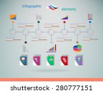 set of infographic elements.... | Shutterstock .eps vector #280777151