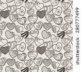 fun seamless love heart... | Shutterstock .eps vector #280777499